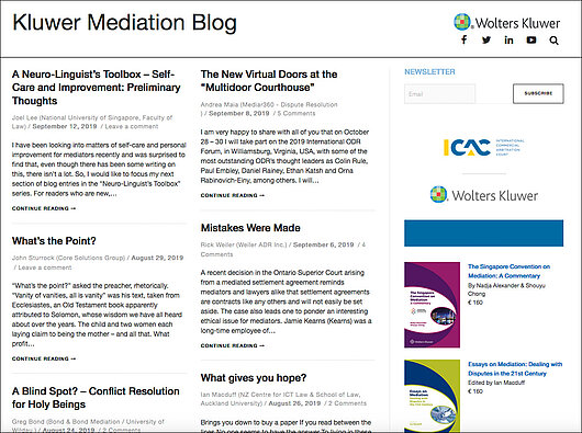 Kluwer Mediation Blog
