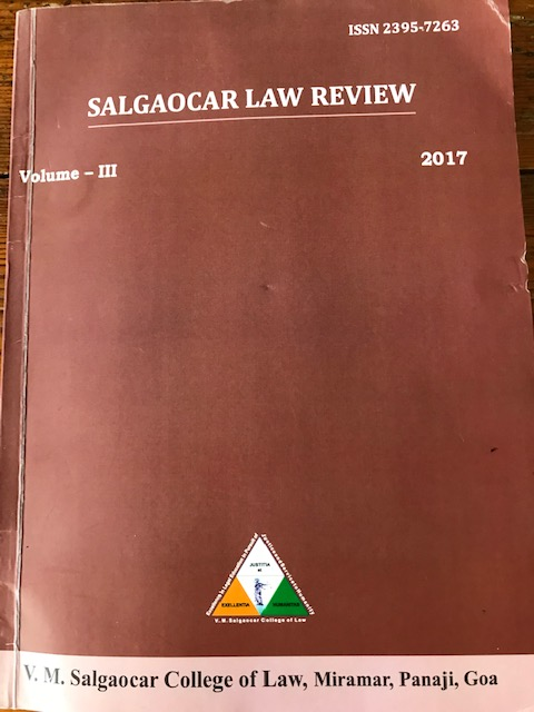 Salgaocar Law Review